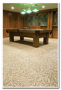 Rec Room with NATURE STONE Brand Flooring