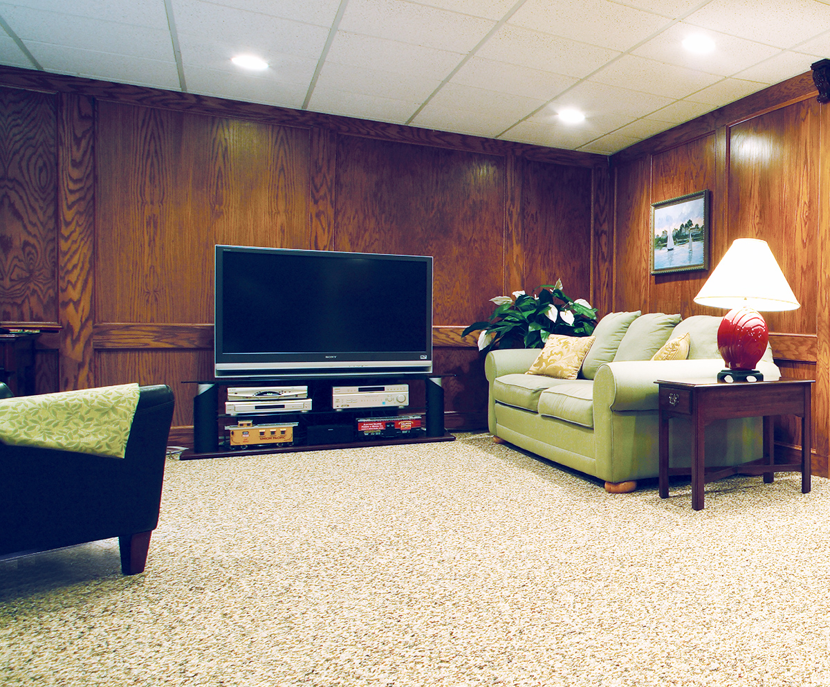 Media Room Flooring : Basement media room flooring nature stone