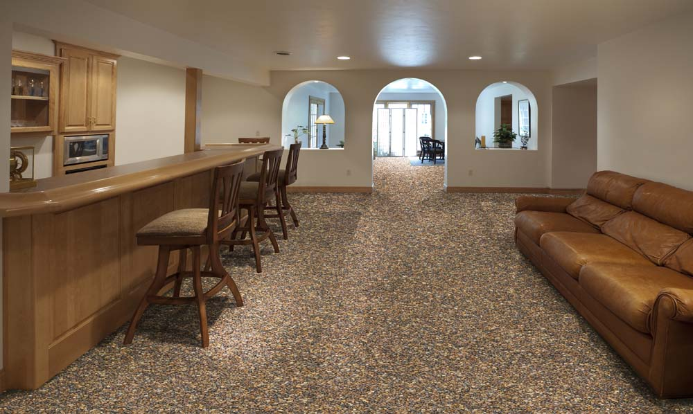 Best Basement Stone And Epoxy Flooring