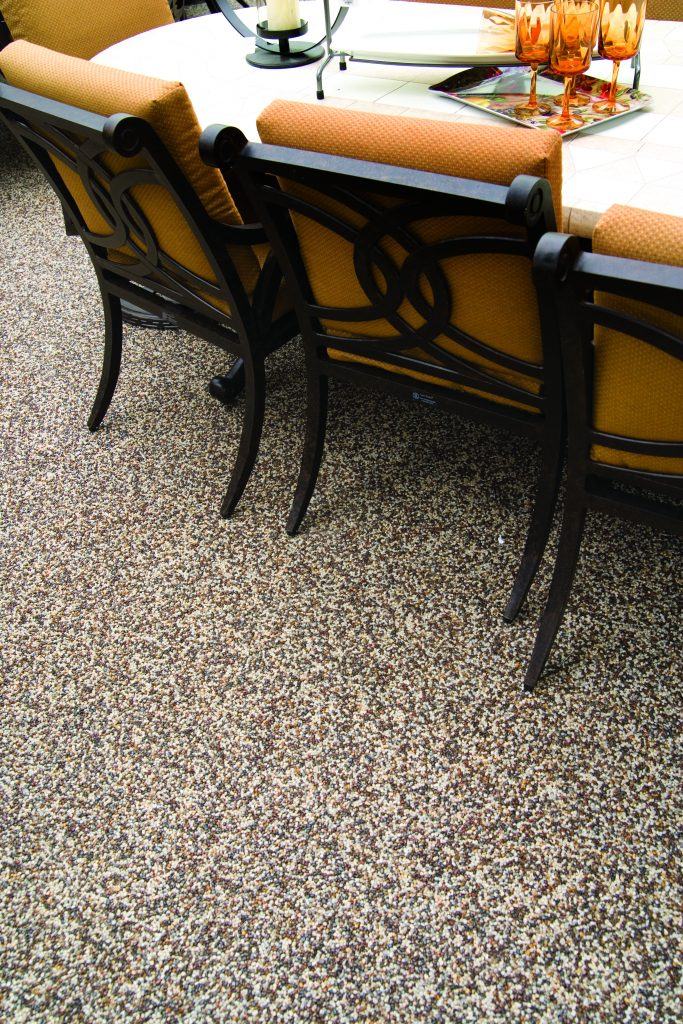 Great Nature Stone Patio Flooring With Dining Table