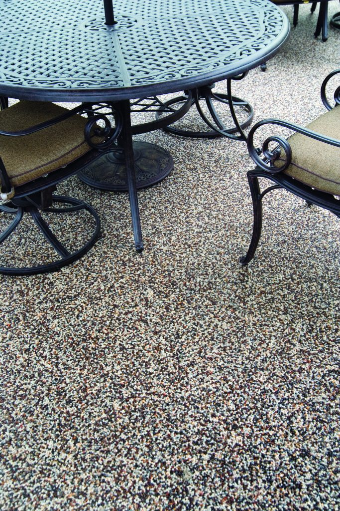 Patio Flooring With Wrought Iron Furniture