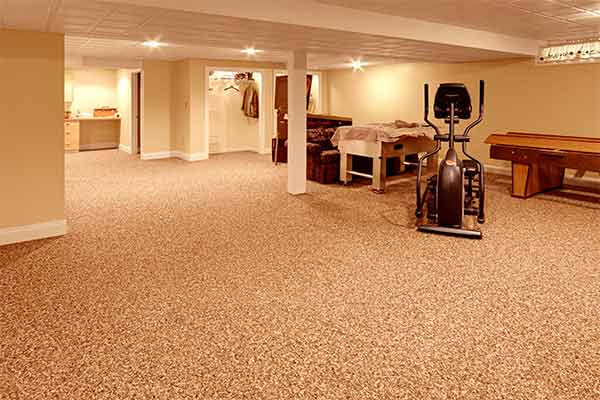 Best basement stone and epoxy flooring for Best carpet for basements