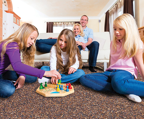 Nature Stone Flooring With Family