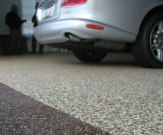 Nature stone flooring for garage basement and for Healthy flooring guide